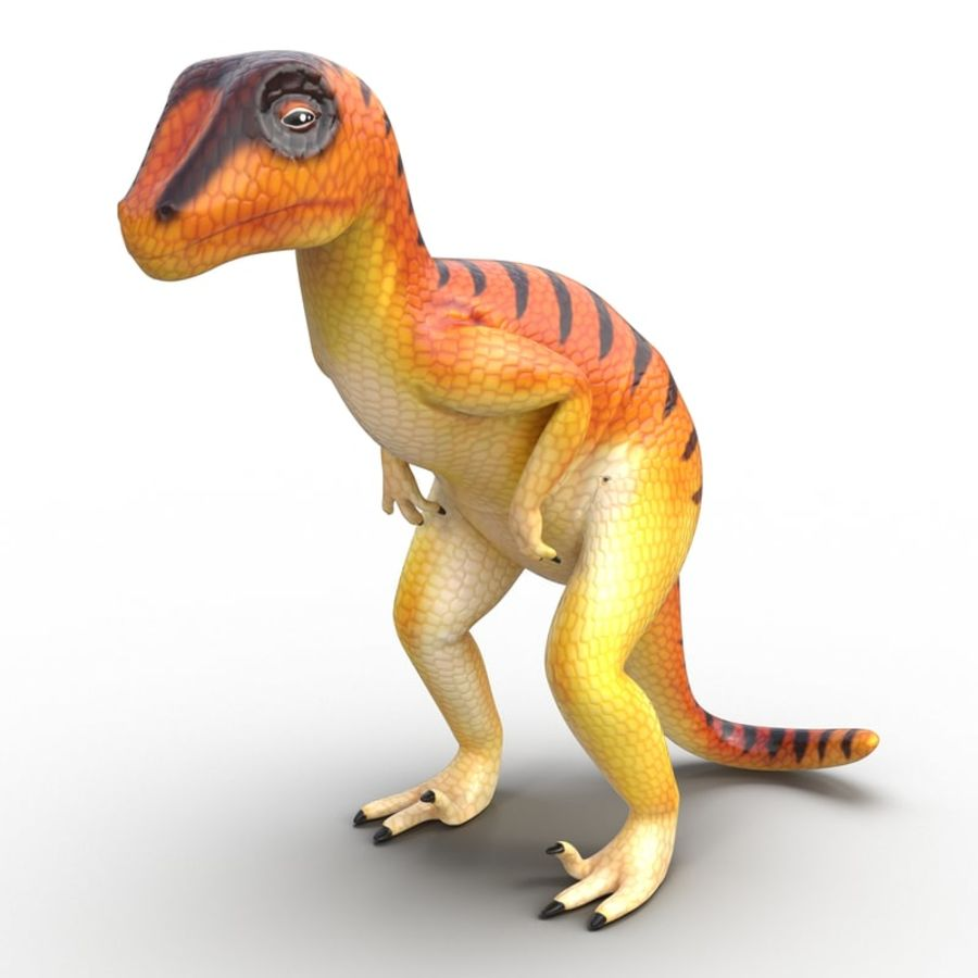 Dinosaur Toy Velociraptor Modello 3D royalty-free 3d model - Preview no. 2