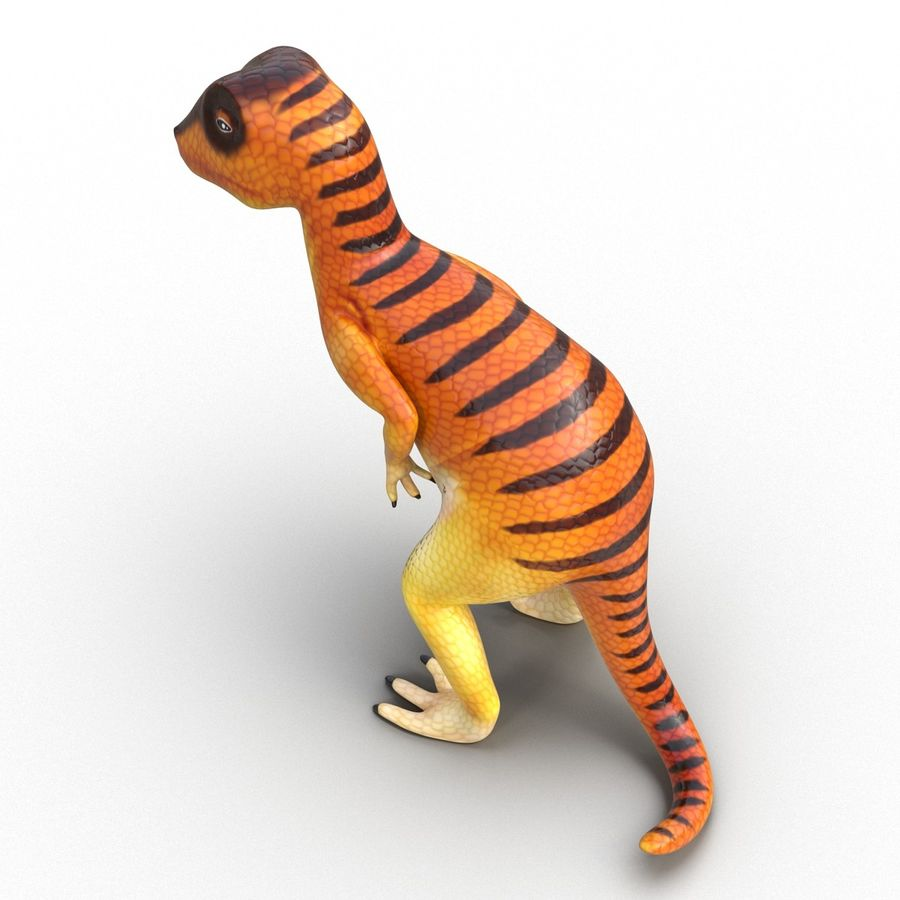 Dinosaur Toy Velociraptor Modello 3D royalty-free 3d model - Preview no. 9