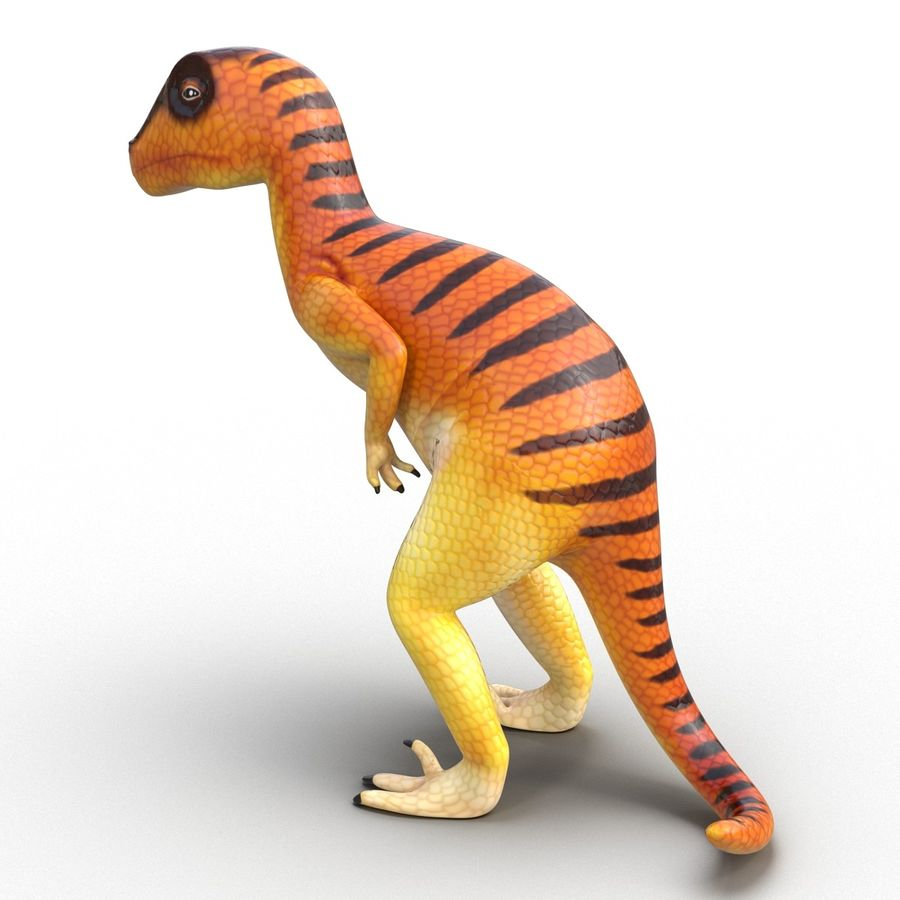 Dinosaur Toy Velociraptor Modello 3D royalty-free 3d model - Preview no. 7