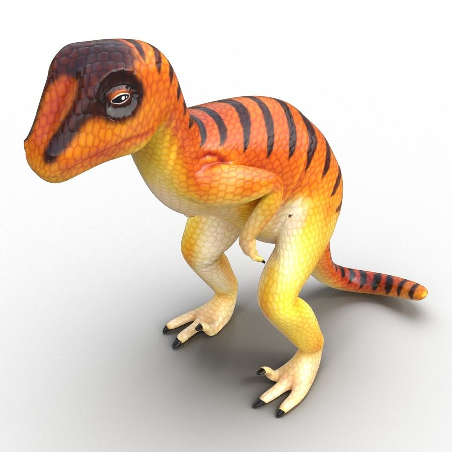 Dinosaur Toy Velociraptor Modello 3D royalty-free 3d model - Preview no. 8