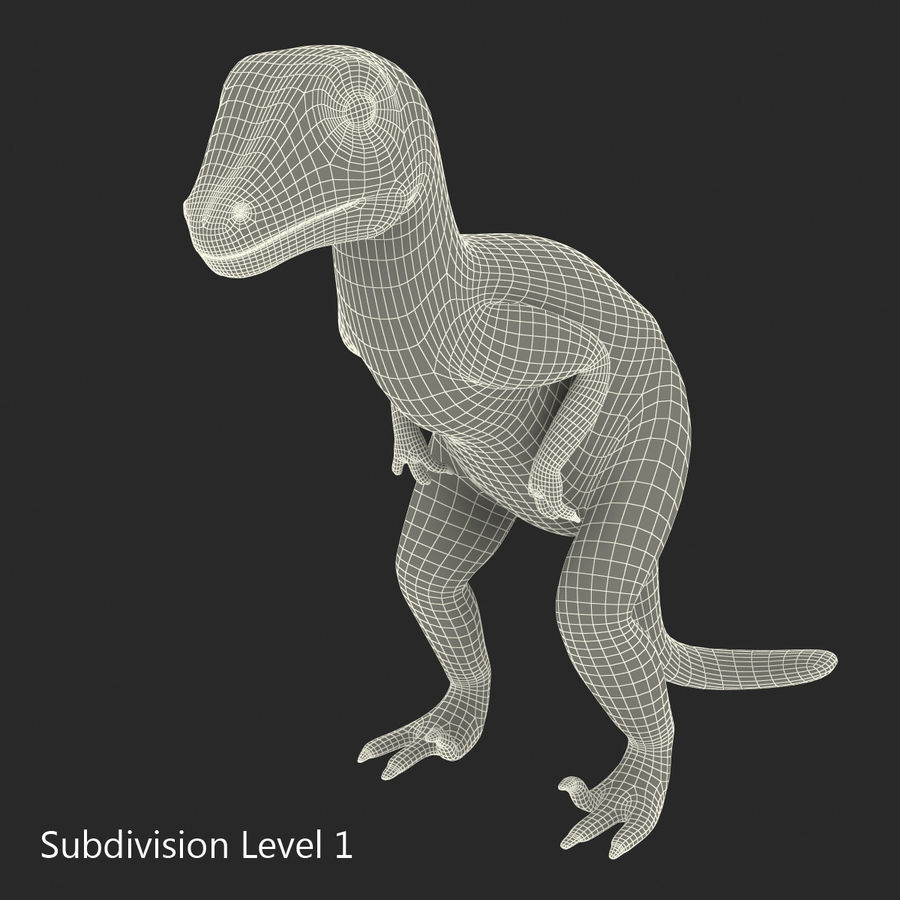 Dinosaur Toy Velociraptor Modello 3D royalty-free 3d model - Preview no. 14