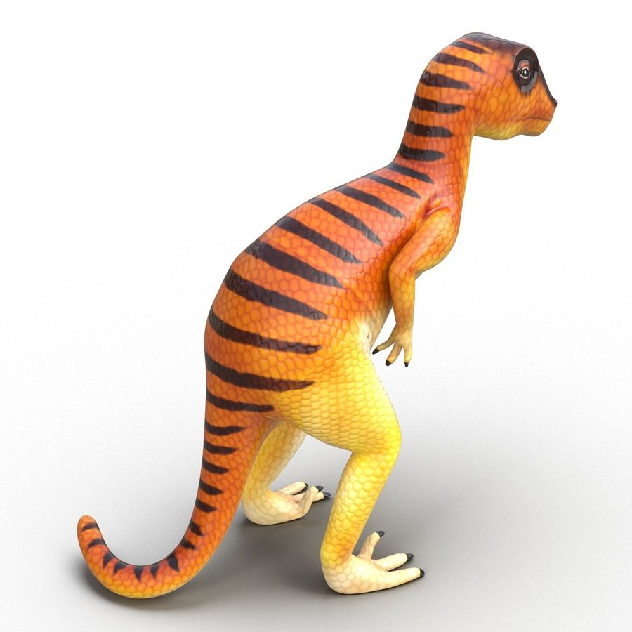Dinosaur Toy Velociraptor Modello 3D royalty-free 3d model - Preview no. 6