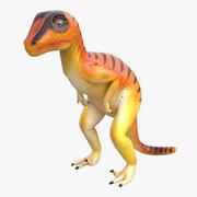 Dinosaur Toy Velociraptor 3D Model 3d model