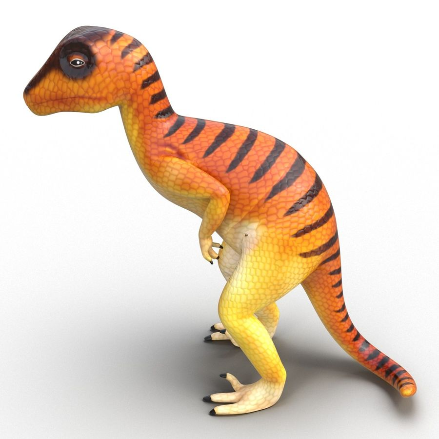 Dinosaur Toy Velociraptor Modello 3D royalty-free 3d model - Preview no. 4