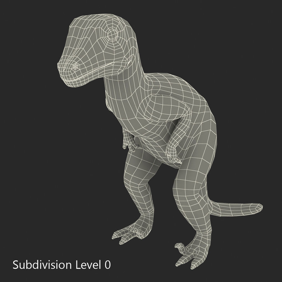 Dinosaur Toy Velociraptor Modello 3D royalty-free 3d model - Preview no. 13