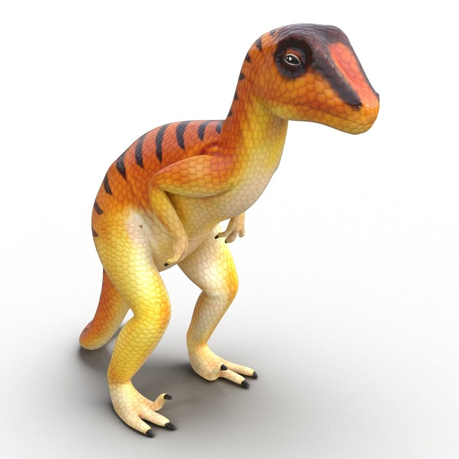 Dinosaur Toy Velociraptor Modello 3D royalty-free 3d model - Preview no. 5