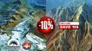 Montagnes enneigées et rocheuses 10% de réduction 3d model