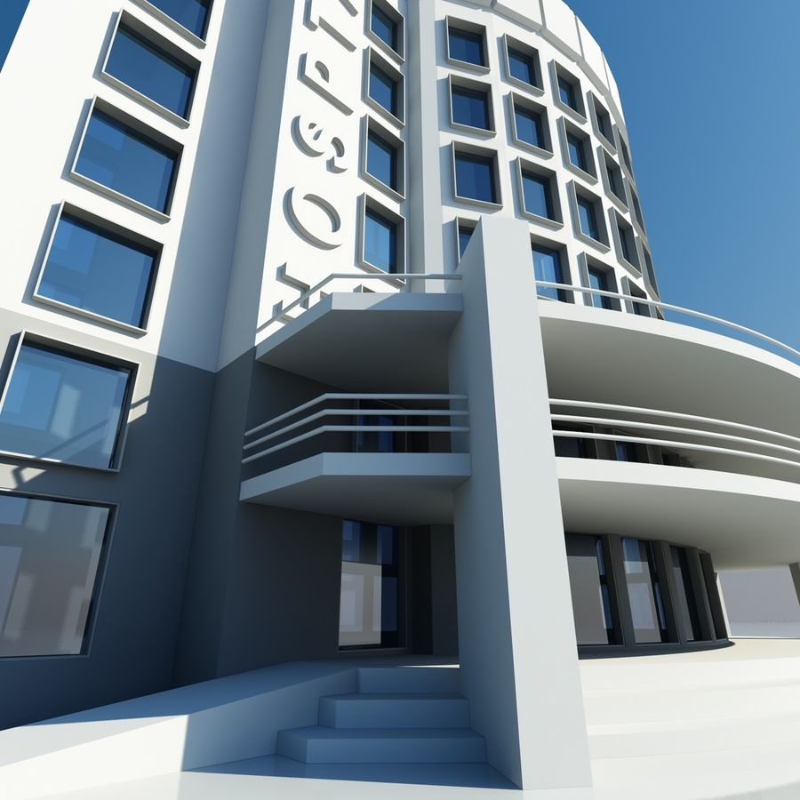 Hospital Building Symbol royalty-free 3d model - Preview no. 4