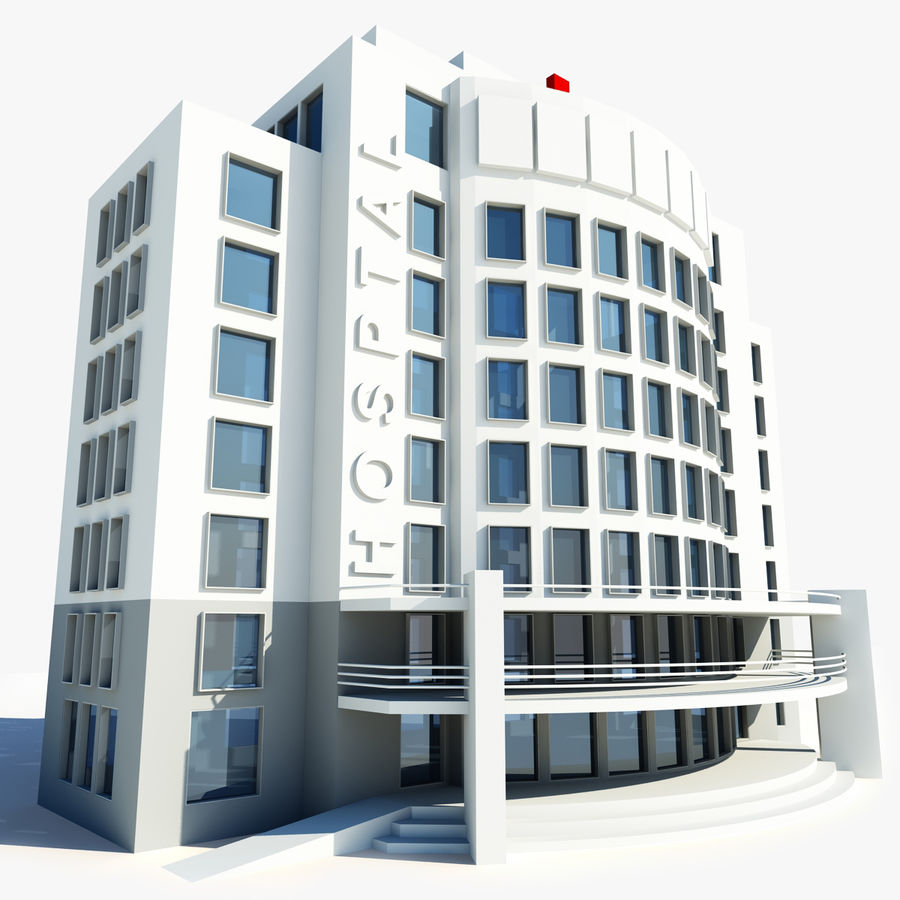 Hospital Building Symbol royalty-free 3d model - Preview no. 1