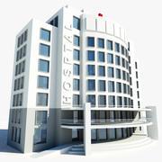 Ziekenhuis Gebouw Symbool 3d model
