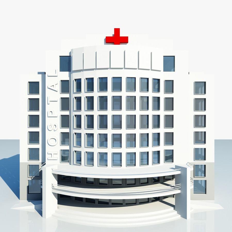 Hospital Building Symbol royalty-free 3d model - Preview no. 5