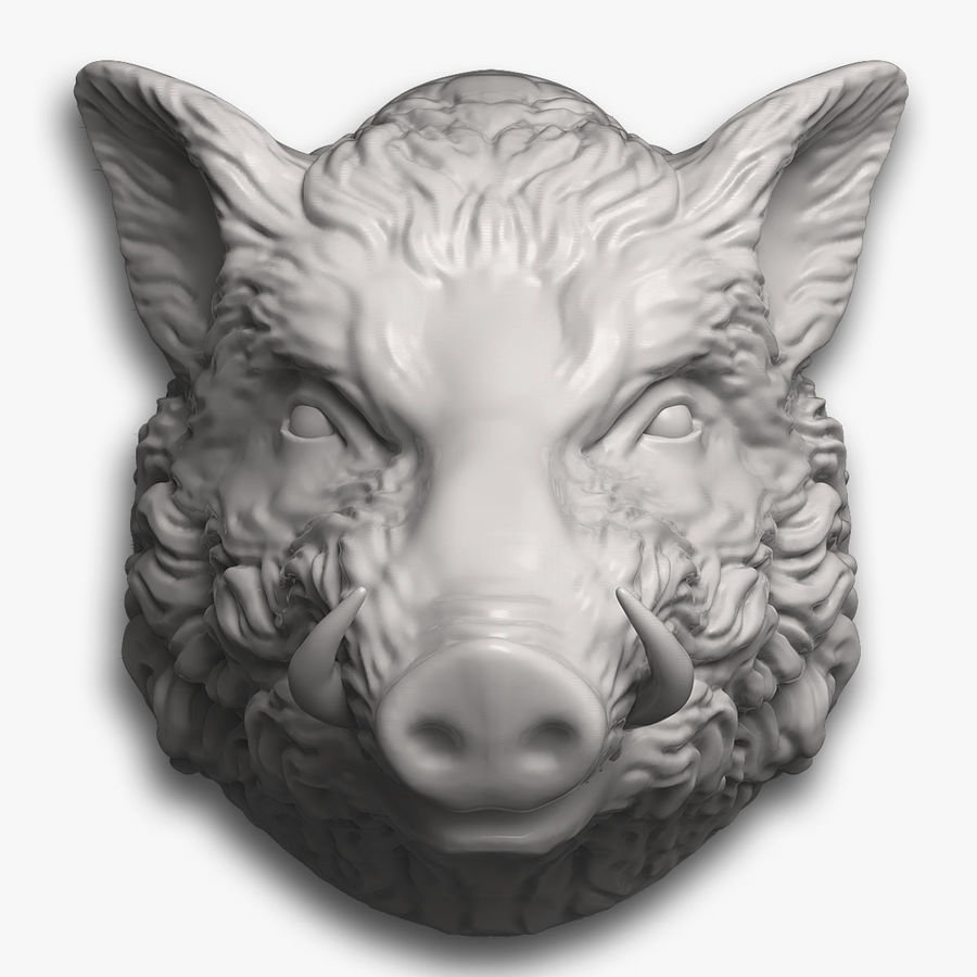 Eberkopf Skulptur royalty-free 3d model - Preview no. 1