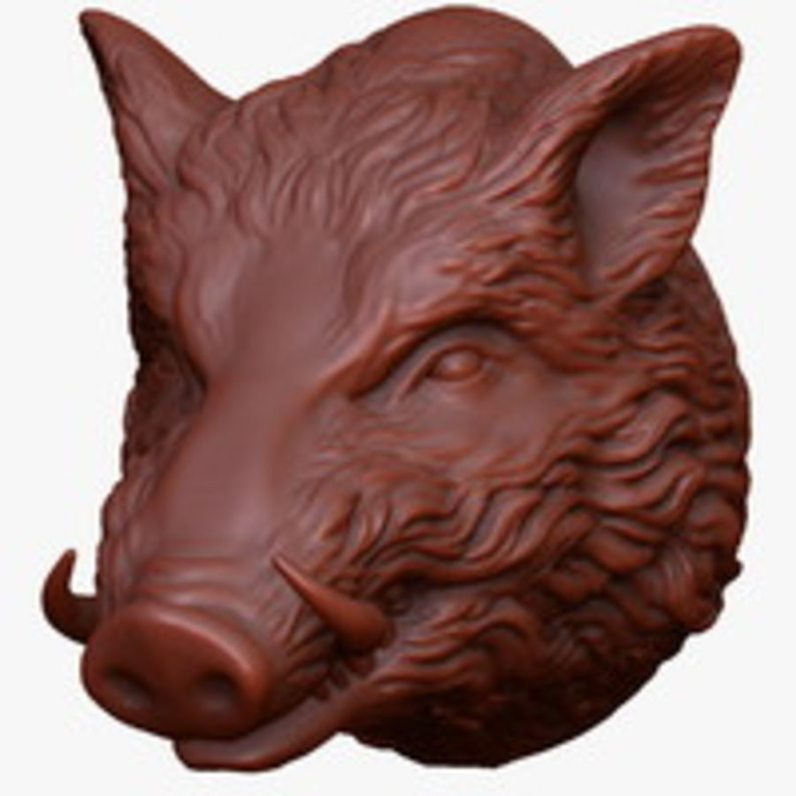 Eberkopf Skulptur royalty-free 3d model - Preview no. 7