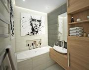 小浴室内部 3d model