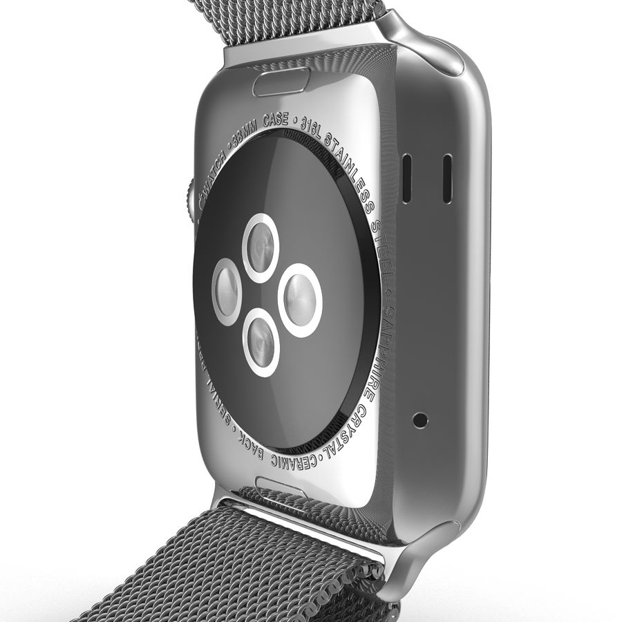 Apple Watch 38mm Milanese Loop 2 royalty-free 3d model - Preview no. 17