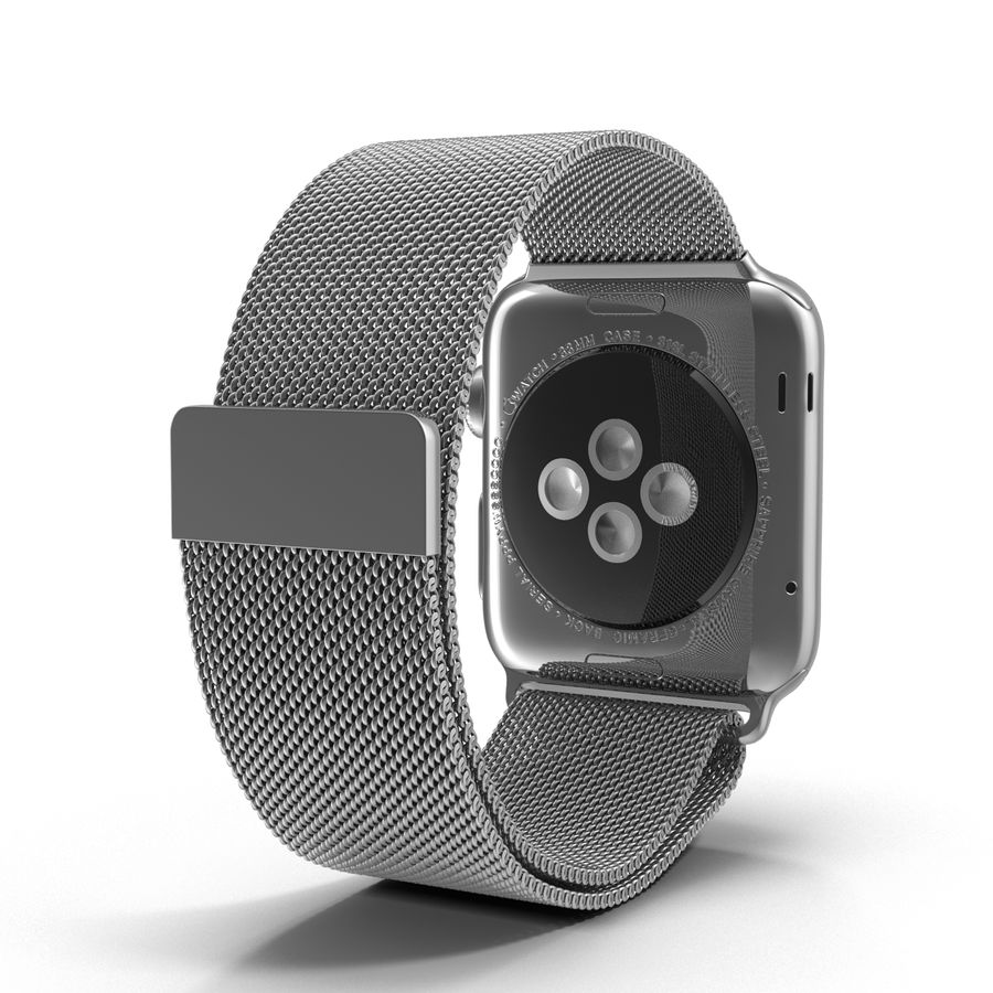 Apple Watch 38mm Milanese Loop 2 royalty-free 3d model - Preview no. 5