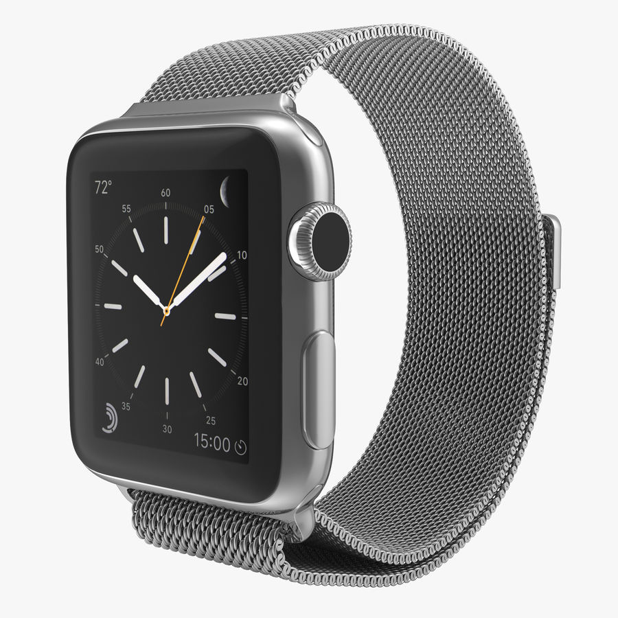 Apple Watch 38mm Milanese Loop 2 royalty-free 3d model - Preview no. 1