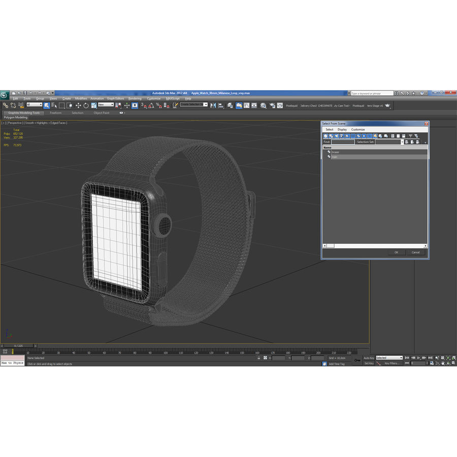 Apple Watch 38mm Milanese Loop 2 royalty-free 3d model - Preview no. 26
