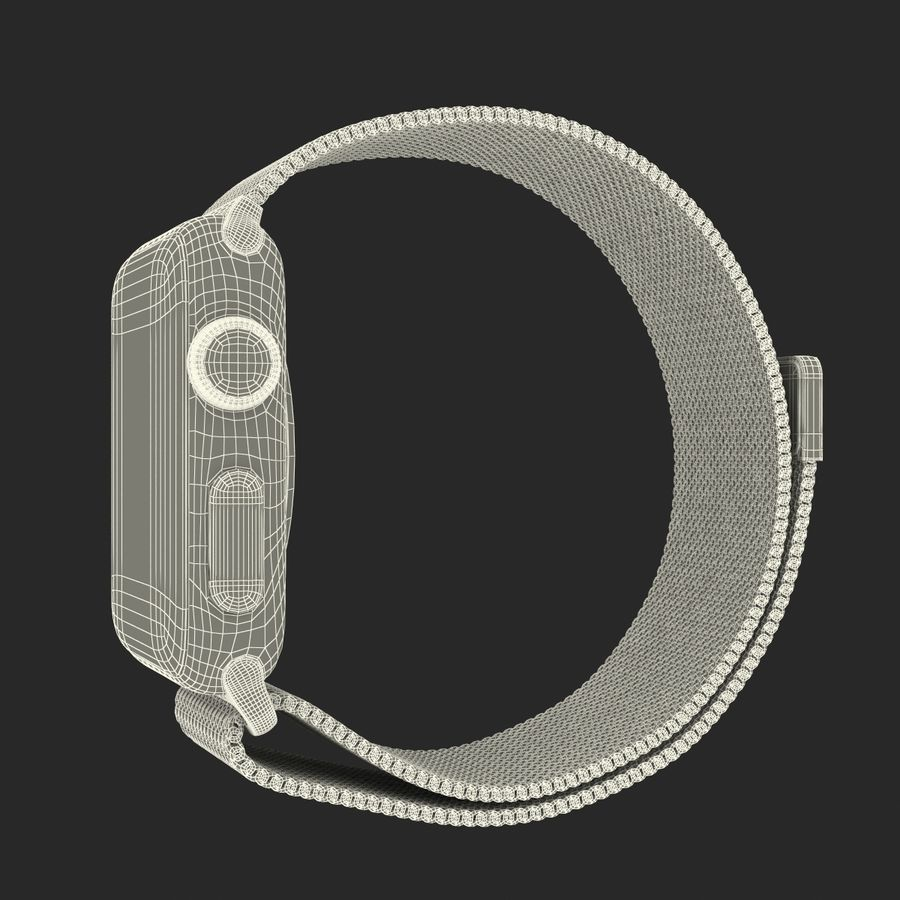 Apple Watch 38mm Milanese Loop 2 royalty-free 3d model - Preview no. 27