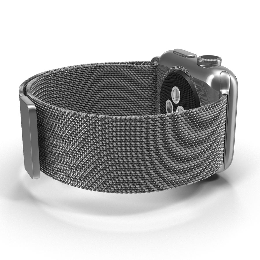 Apple Watch 38mm Milanese Loop 2 royalty-free 3d model - Preview no. 13