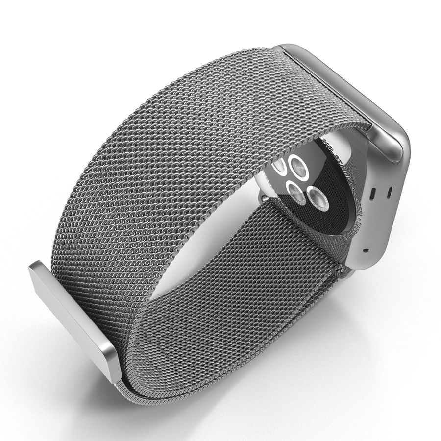 Apple Watch 38mm Milanese Loop 2 royalty-free 3d model - Preview no. 10