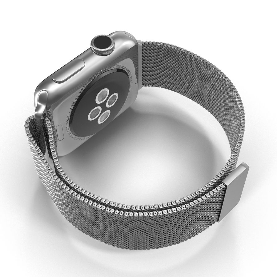 Apple Watch 38mm Milanese Loop 2 royalty-free 3d model - Preview no. 12