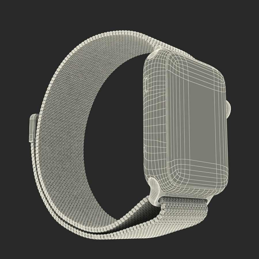 Apple Watch 38mm Milanese Loop 2 royalty-free 3d model - Preview no. 30