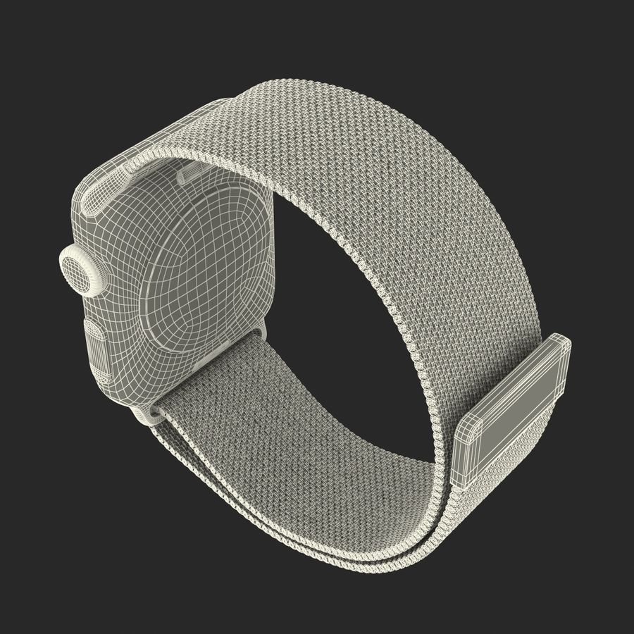 Apple Watch 38mm Milanese Loop 2 royalty-free 3d model - Preview no. 28