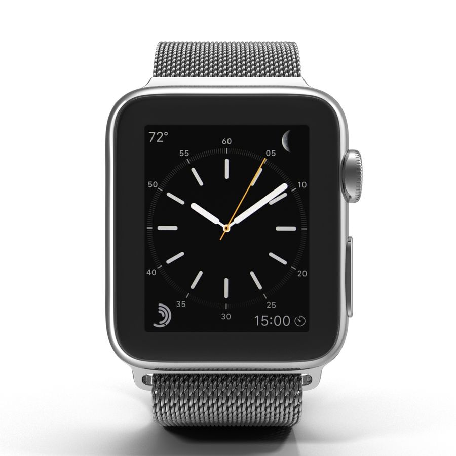 Apple Watch 38mm Milanese Loop 2 royalty-free 3d model - Preview no. 3