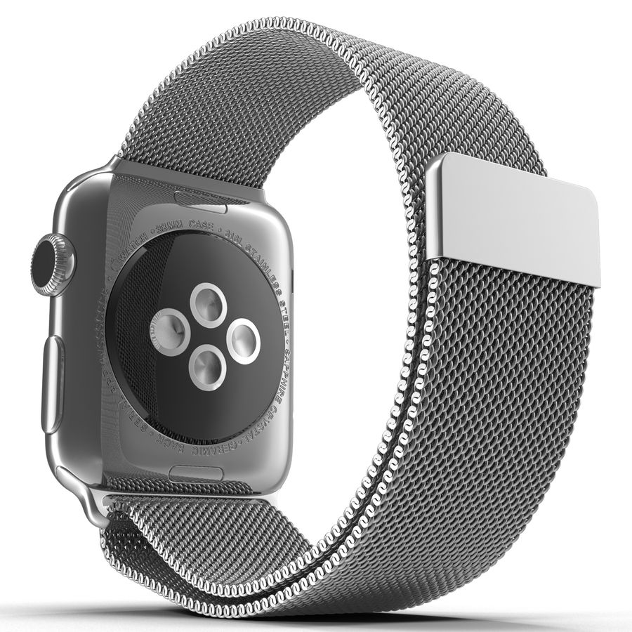 Apple Watch 38mm Milanese Loop 2 royalty-free 3d model - Preview no. 9