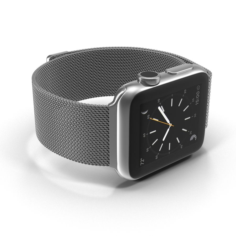 Apple Watch 38mm Milanese Loop 2 royalty-free 3d model - Preview no. 14