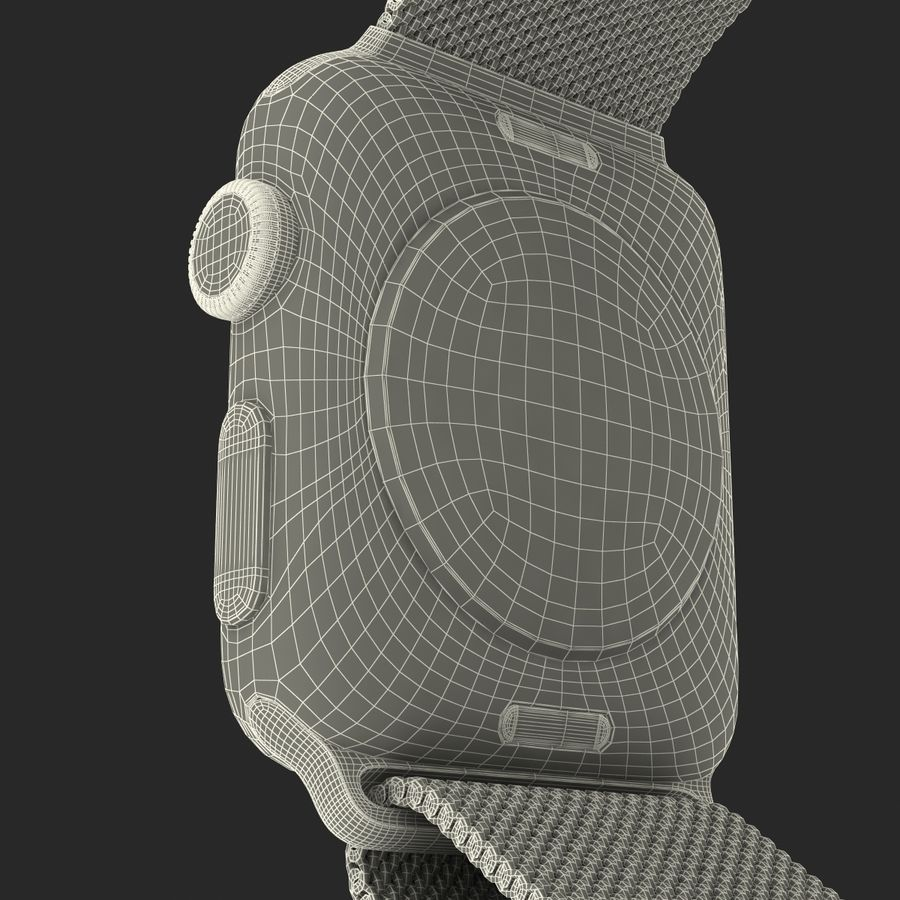 Apple Watch 38mm Milanese Loop 2 royalty-free 3d model - Preview no. 31