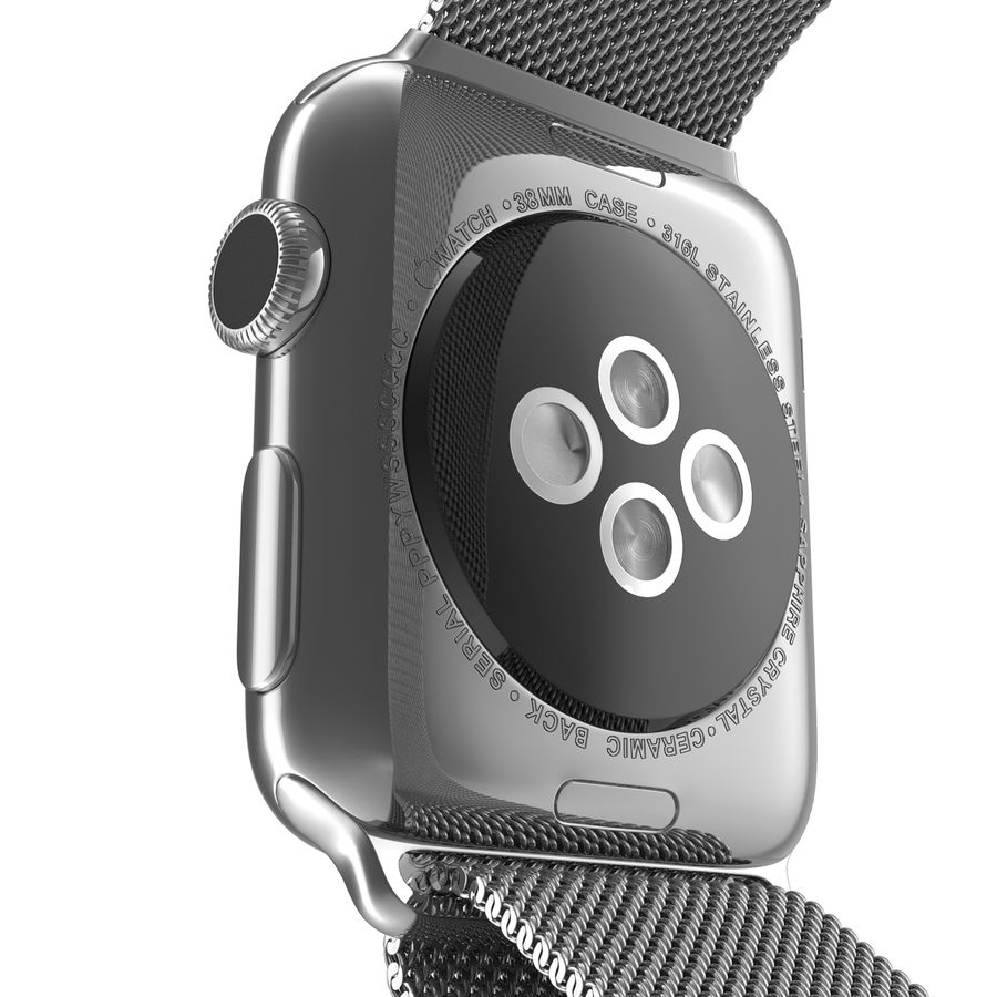 Apple Watch 38mm Milanese Loop 2 royalty-free 3d model - Preview no. 16