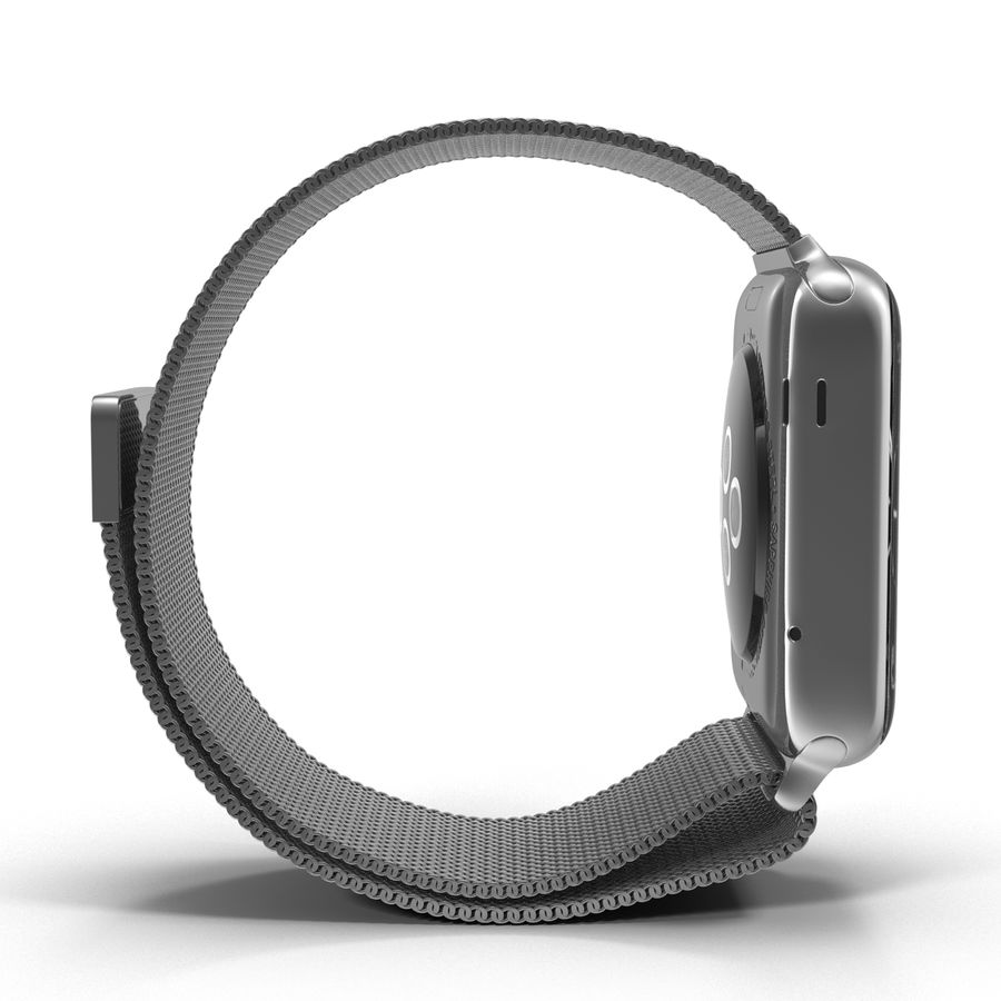 Apple Watch 38mm Milanese Loop 2 royalty-free 3d model - Preview no. 8