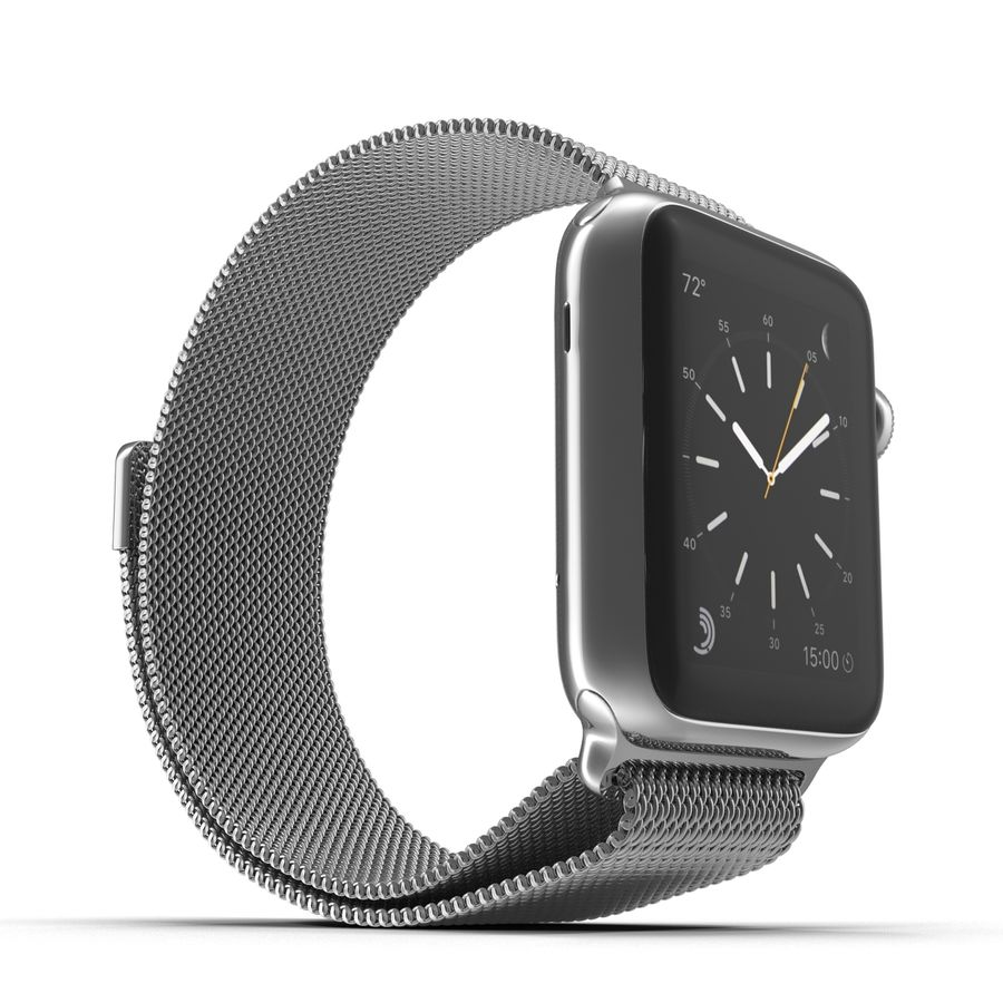 Apple Watch 38mm Milanese Loop 2 royalty-free 3d model - Preview no. 4