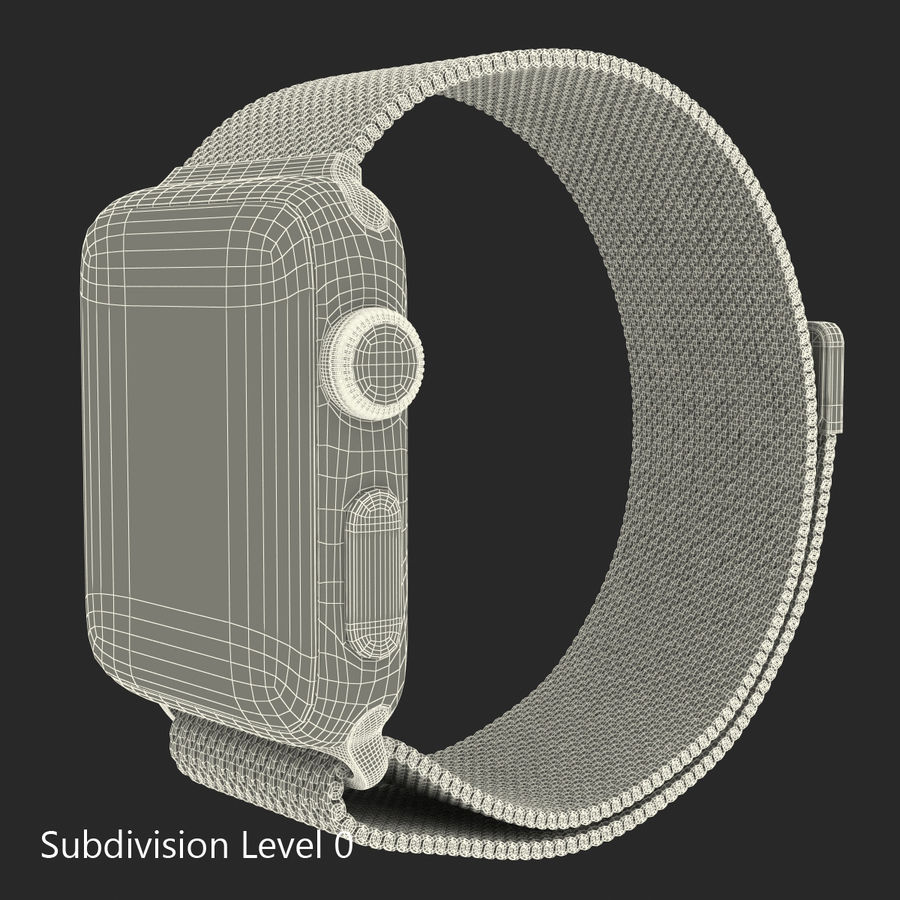 Apple Watch 38mm Milanese Loop 2 royalty-free 3d model - Preview no. 20