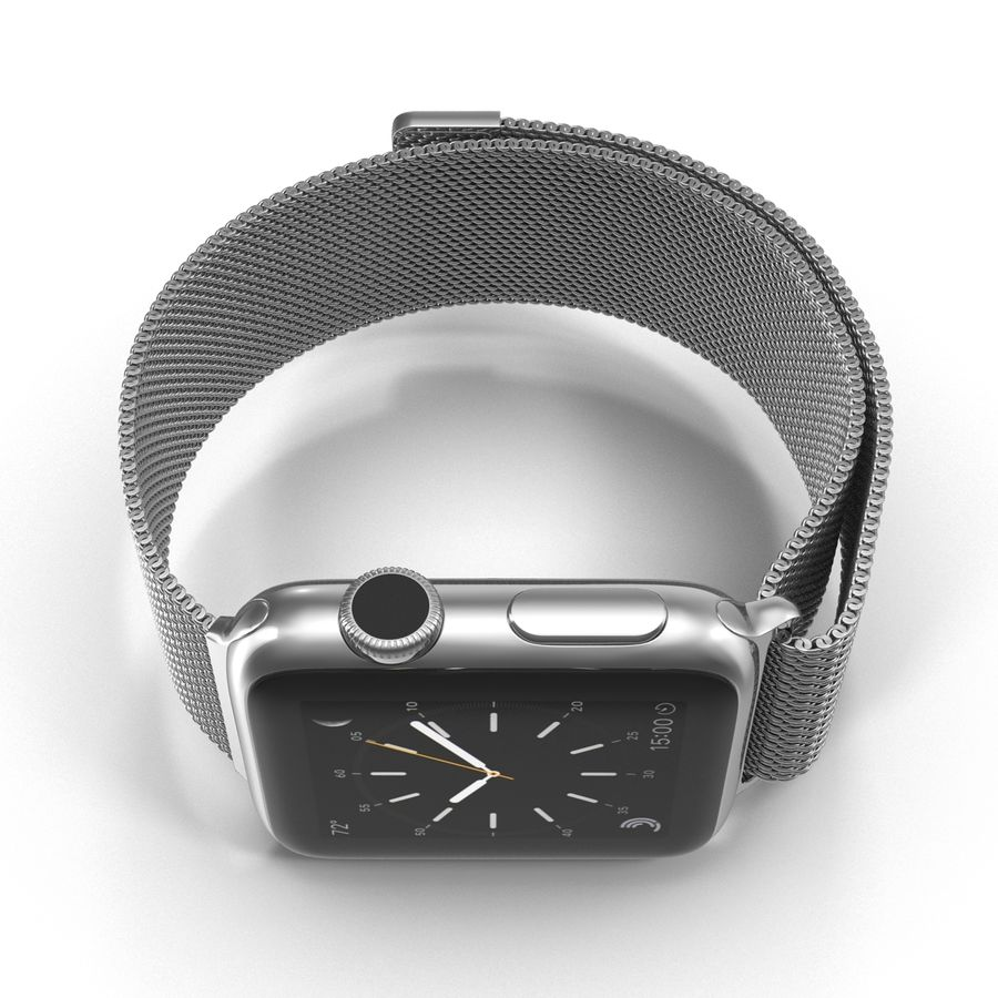 Apple Watch 38mm Milanese Loop 2 royalty-free 3d model - Preview no. 11