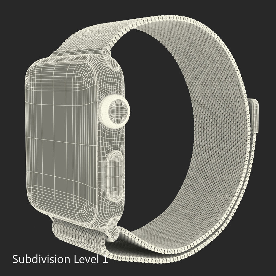 Apple Watch 38mm Milanese Loop 2 royalty-free 3d model - Preview no. 21