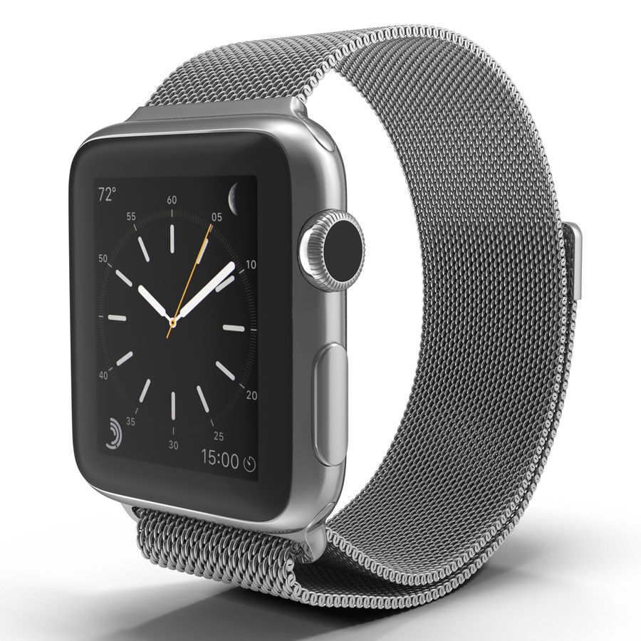 Apple Watch 38mm Milanese Loop 2 royalty-free 3d model - Preview no. 2
