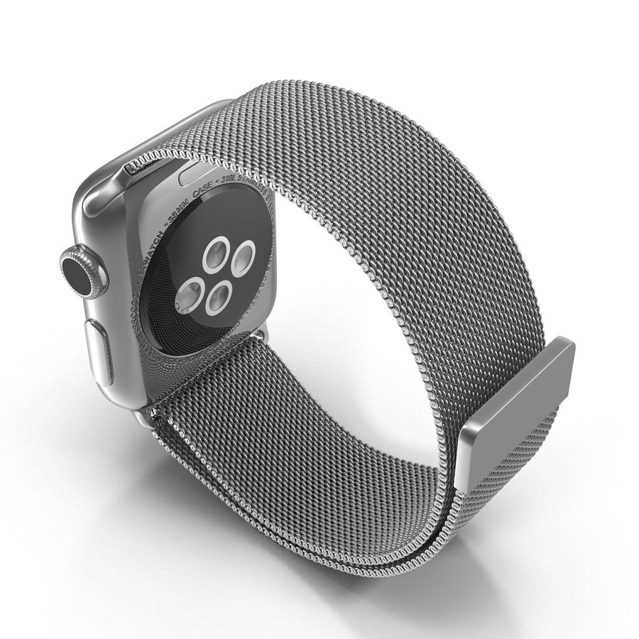 Apple Watch 38mm Milanese Loop 2 royalty-free 3d model - Preview no. 7