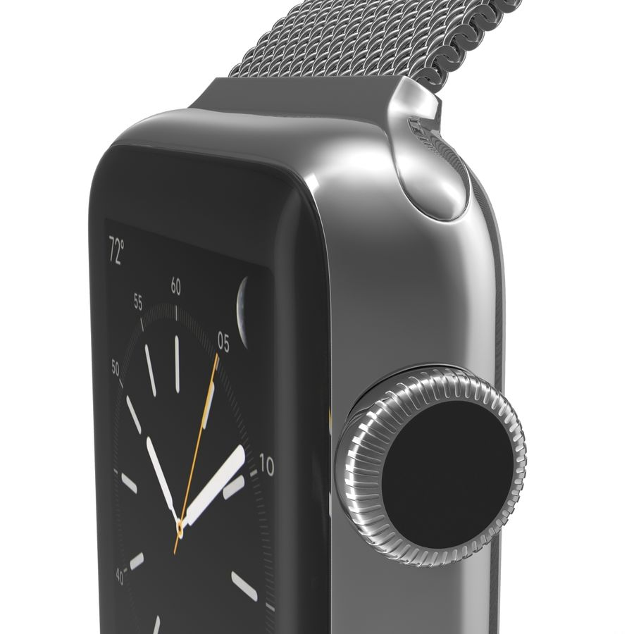 Apple Watch 38mm Milanese Loop 2 royalty-free 3d model - Preview no. 18