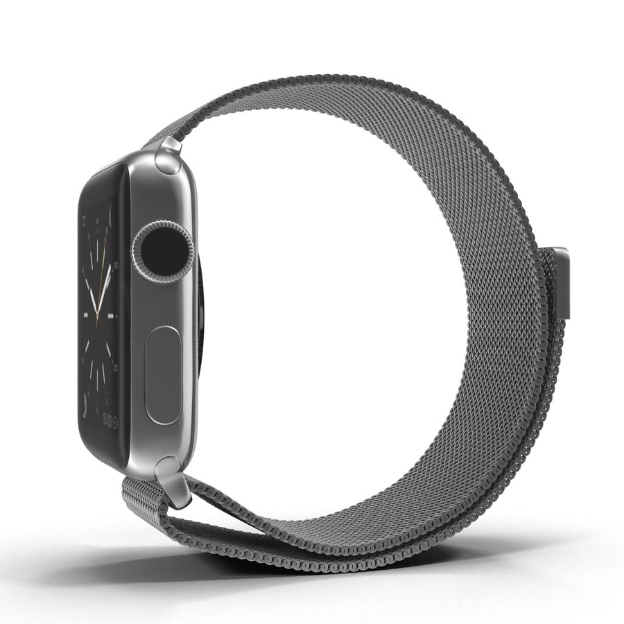 Apple Watch 38mm Milanese Loop 2 royalty-free 3d model - Preview no. 6