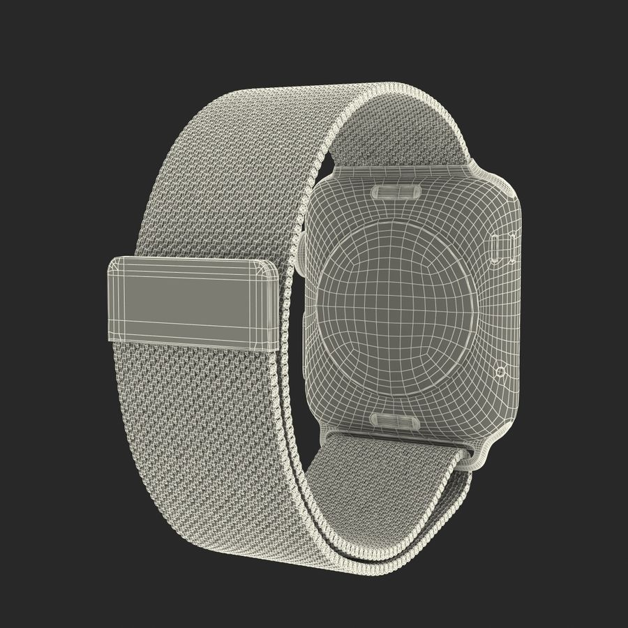 Apple Watch 38mm Milanese Loop 2 royalty-free 3d model - Preview no. 29