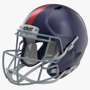 Football Helmet 3 Schutt Blue 3d model