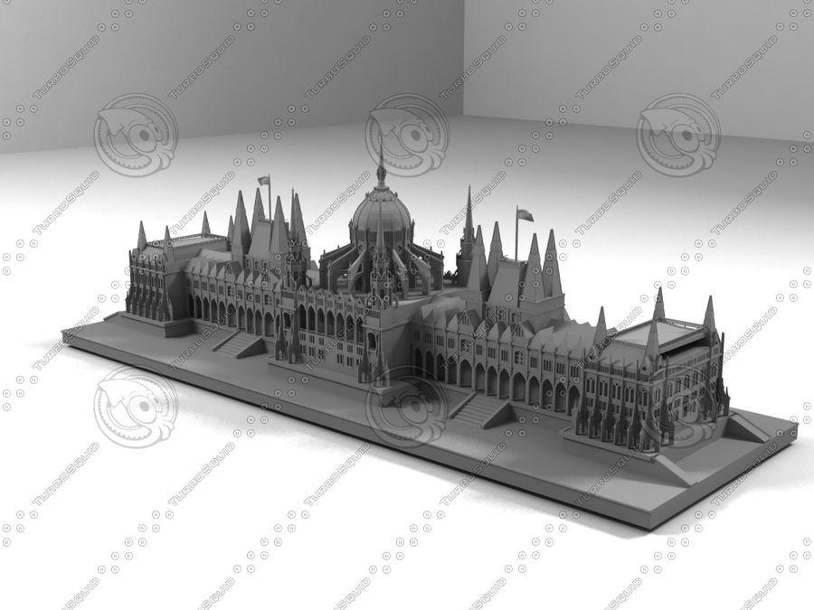 부다페스트의 건축 기념물 royalty-free 3d model - Preview no. 3