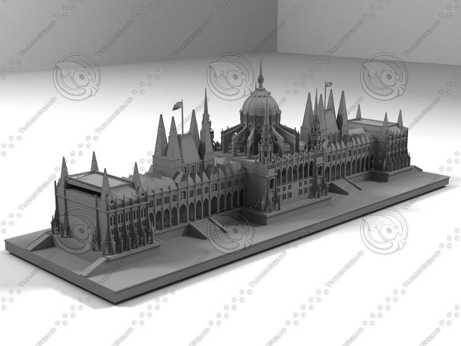 부다페스트의 건축 기념물 royalty-free 3d model - Preview no. 1
