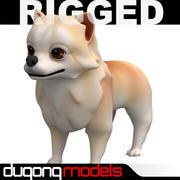 Rigged Cartoon Dog 3d model