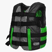 Life Vest Green 3d model