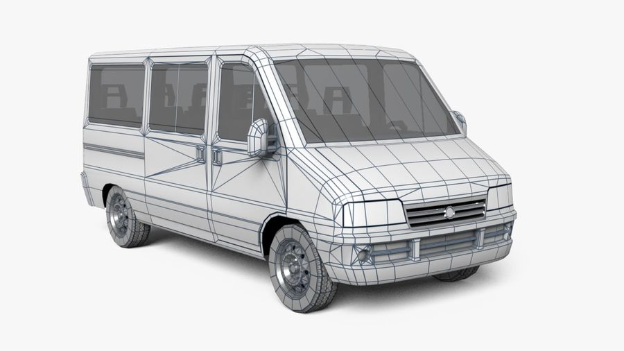 fiat ducato royalty-free 3d model - Preview no. 6