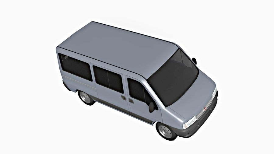 fiat ducato royalty-free 3d model - Preview no. 3